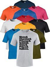 Harry Potter Libros Roca Cámara Prisionero Copa Estado Prince Hallows Camiseta