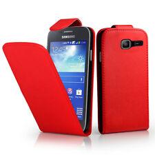 Piel Artificial Móvil Funda Protectora con Tapa para Samsung Galaxy Trend Lite
