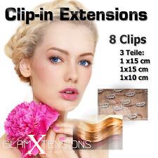 Echthaar Clip In 35gr Ergänzungsset 45cm/55cm/60cm Haarverlängerung Haarfülle