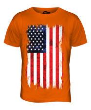 STARS AND STRIPES GRUNGE FLAG MENS T-SHIRT TEE TOP USA US UNITED STATES AMERICA