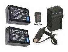 TWO BP-1030 ED-BP1030 Batteries +Charger for Samsung NX200 EV-NX200ZBSBUS NX-200