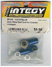 Integy Metal Ball End 3mm Gunmetal RC Crawler Linkages C22727BLUE Hop-Up 1pr NIB