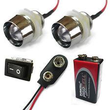 2x A COLORI COMBINAZIONI R/C AUTO BUGGY CAMION 10mm LED + PP3 Kit batteria