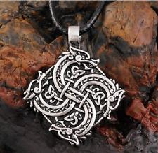 Ancient Viking Norse Warrior Wolf Head Amulet Talisman Pendant Vintage Necklace