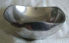 "Nambe tri-corner bowl with gentle rim points - 9 1/4"""