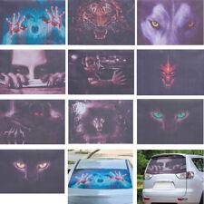 3D Halloween Transparent Car Back Rear Window Decal Vinyl Sticker Horror Monster