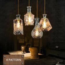 Decanter Glass Bottle Pendant Light Ceiling Lights Lamp Shade Vintage Decorative