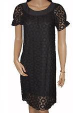 BN Ladies Black Lace Round Neck Evening Dress - UK 8 - 12