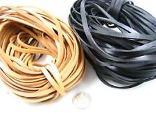 Cuero plano 5MM Cable para Collar Pulsera de hilo Artesanía Bolsa Cordón de Cuero Tanga