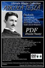 DVD 300+ eBooks Scientist Nikola Tesla Secret Military Ideas How to Build a Coil