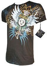 XZAVIER [Royal Wings] t-shirt motero Harley rocker Gothic tribal MMA Wings la XZ