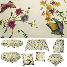 Schmetterling Leinenoptik Tischdecke Tischläufer Kissen Gartentischdecke Sommer