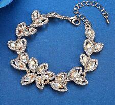 Crystal Statement Leaf Bracelet - New in Gift Box