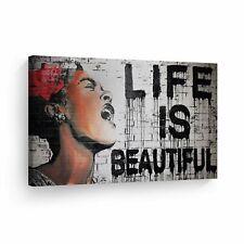 Banksy Art Life Is Beautiful Graffiti Wall Art Wall Art
