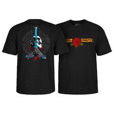 Powell Peralta Skateboard Shirt Triple P Skull and Sword Black