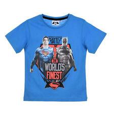 BATMAN vs SUPERMAN 4, 6, 8 ou 10 ans t-shirt manches courtes bleu NEUF