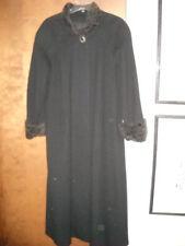 Gorgeous Women's Black GHM Winter Coat with Dark Brown Faux Fur Trim Size 10