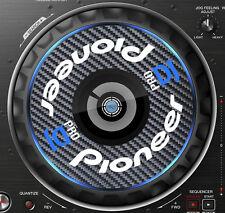 PIONEER PRO CARBON FIBRE DDJ-RZ  DDJ RZ JOG / SLIPMAT GRAPHICS / STICKERS CDJ