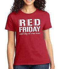 RED FRIDAY Remember Everyone Deployed veteran military Women's Crew neck T-Shirt
