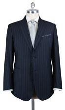 New $3600 Stile Latino Navy Blue Striped Suit - (VAULUCA20R0B30)