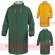 Delta Plus Waterproof Storm Jacket Mens PVC Coated Long Length Hooded Rain Coat