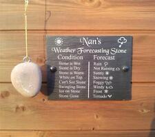 Funny pronósticos meteorológicos Piedra natural Pizarra placa signo de Regalo Ideal 20cm x15cm