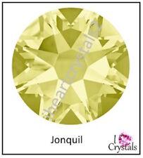JONQUIL Yellow HOTFIX Swarovski Flatback Crystal 6ss 8ss 10ss 12ss 16ss 20ss 30s