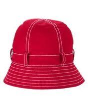 GYMBOREE BURST OF SPRING RED PICKSTICTH BUCKET HAT 0 12 24 2T 3T 4T 5T NWT