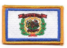 Toppe Toppa PATCH VIRGINIA OCCIDENTALE Bandiera 7x4.5cm USA AMERICA ricamata
