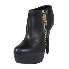 Women's Leatherette Almond Toe Stiletto Ankle Bootie (Ravish83)