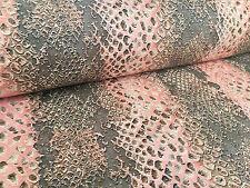corallo pelle di serpente Tende tessuto tappezzeria stampa animalier materiale
