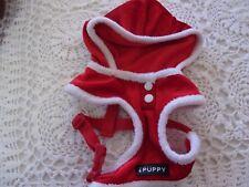 Red SANTA Dog T-strap Harness S New Holiday choke-free costume Christmas small