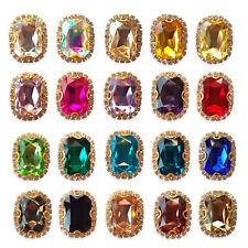 Large EMERALD Glass Crystal Diamante Rhinestone Embellishment Sew On Gem Jewels