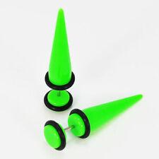Faux écarteur pour lobe de l'oreille tige de 1 mm  expandeur VERT diamétre 8 mm