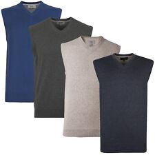 Marks & Spencer Mens Cotton Tank Top Pullover New M&S Sleeveless Slipover Jumper