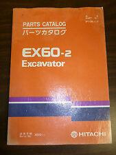 Hitachi EX60-2 EXCAVATOR Parts book serial # 30001 and beyond