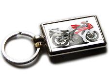 HONDA CBR 1000 Motorbike Koolart Chrome Keyring Picture Both Sides