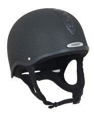 Champion X-Air Plus Jockey Helmet Black/Silver Sizes 00 1/2  to size 2.5