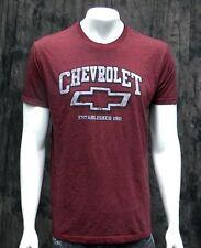 GM Official Licensed Chevrolet Established 1991 Burgundy Color T-Shirt