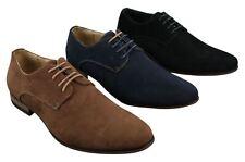 Chaussures Homme Daim Nubuck à Lacets Style Bleu Marine Noir Brun
