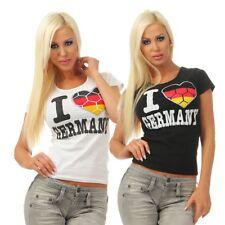 5963 Mujer Camiseta de FAN Manga Corta Fútbol WM EM Fanático Alemania