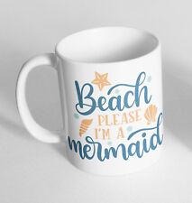 Beach Please Im A Mermaid Printed Cup Ceramic Novelty Mug Funny Gift Coffee Tea