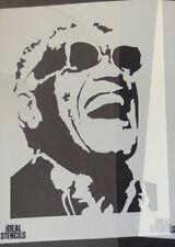 Ray Charles Portrait STENCIL Art Home Decor Stencils - Paint Walls Fabrics etc
