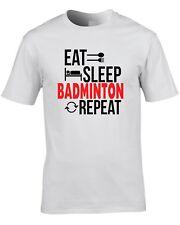 badminton t-shirt eat, sommeil, Badminton, répéter chouette idée cadeau CADEAU
