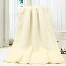 Flannel Blankets Fashion Solid Soft Kids Blanket Warm Coral Plaid Blanke UK