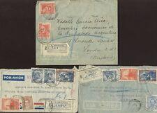 ARGENTINA 1937 regist.diplomatic min.agriculture Multi frankings per GB..3 raggruppa