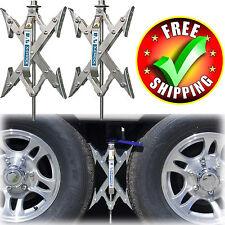 Wheel Stabilizer Trailer Camper RV X-Chock Ratchet Handle Tire Locking Chock
