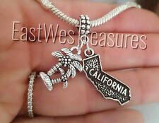 I Love Heart California Palm trees bracelet necklace charm pendant-European DIY