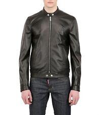Giacca Giubbotto in Pelle Uomo Men Leather Jacket Veste Blouson Homme Cuir R7
