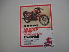 advertising Pubblicità 1979 MOTO MORINI 250